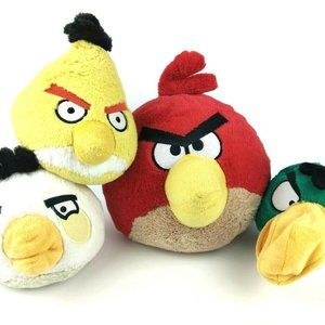 Angry Birds Plush Lot Of 4 Red Toucan Matilda
